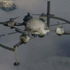 Support_Helo.jpg Télécharger fichier OBJ gratuit Recon Drone Call of Duty Modern Warfare (2019) • Modèle pour impression 3D, LosSimonos