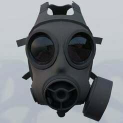 Gas_Mask.jpg Télécharger fichier OBJ gratuit Masque à gaz Call of Duty Modern Warfare (2019) • Modèle imprimable en 3D, LosSimonos