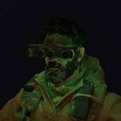 NVG_Cycle.jpg Download free OBJ file Night Vision Goggles Call of Duty Modern Warfare • Template to 3D print, LosSimonos