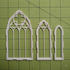 threegothicwindows.jpg Download STL file Gothic Window Set • 3D printing model, Adridne
