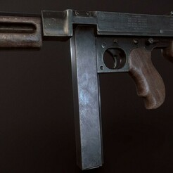 Thompson Submachine Gun Photo 6.jpg Download OBJ file Thompson Submachine Gun • 3D printer model, Modelooze