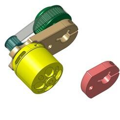 04.jpg Download STL file Motor mount Longboard / skateboard Electric DIY • 3D printable design, romain1330