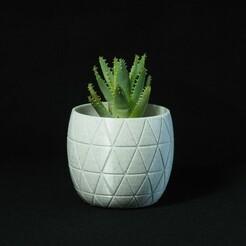 P1172070.JPG Download STL file Marble Triangle Vase • 3D print model, PSMAKE
