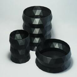 P1032053.JPG Télécharger fichier STL Vase triangulaire Lowpoly - paquet de 3 • Design pour imprimante 3D, PSMAKE