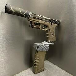 IMG_0116(1).jpg Télécharger fichier STL gratuit M4 Glock adapter • Modèle imprimable en 3D, poingtalexis