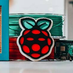 rasp.jpg Download free 3MF file Raspberry Pi logo with multiple colors • 3D print template, pandronu