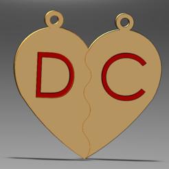 1.PNG Download STL file HEART LOVE PENDANT • 3D printable design, danizero39dc