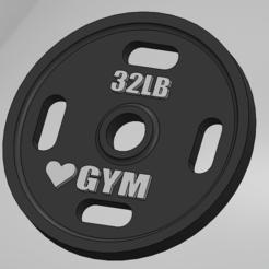 disco de gym.PNG Télécharger fichier STL Colgante de culturismo • Objet pour imprimante 3D, danizero39dc