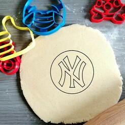 new york yankees.jpg Download STL file New York Yankees Cookie Cutter • 3D print model, Cookiecutterstock