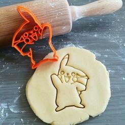 Pikachu_mockup.jpg Download STL file Pikachu Pokemon Cookie Cutter • 3D printing design, Cookiecutterstock