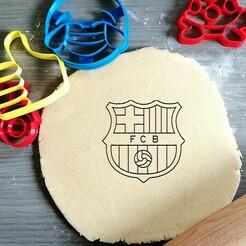barcelona.jpg Download STL file Barcelona Football Cookie Cutter • 3D printer template, Cookiecutterstock