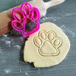 Hondenpootje_mockup.jpg Download STL file Dog Paw Cookie Cutter • 3D printing design, Cookiecutterstock