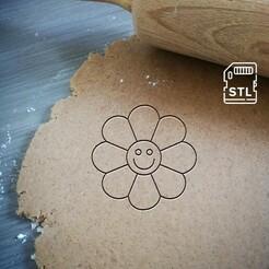 flower smiley.jpg Télécharger fichier STL Coupe-biscuits au smiley fleuri • Objet à imprimer en 3D, Cookiecutterstock