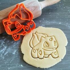 Bulbasaur_mockup.jpg Download STL file Bulbasaur Pokemon Cookie Cutter • 3D printing design, Cookiecutterstock