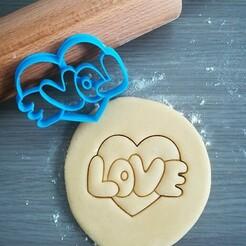 Love_cookie cutter.jpg Télécharger fichier STL L'emporte-pièce de l'amour • Plan pour impression 3D, Cookiecutterstock