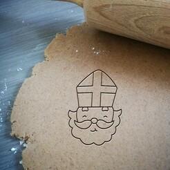 St. Nicholas_koekjesvorm.jpg Télécharger fichier STL Découpeur de biscuits de Saint-Nicolas • Modèle pour impression 3D, Cookiecutterstock