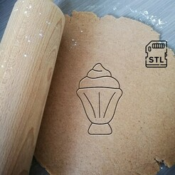 ice cream glass_etsy.jpg Download STL file Ice Cream Glass Cookie Cutter • 3D printable design, Cookiecutterstock