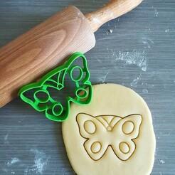 Vlinder_mockup.jpg Download STL file Butterfly Cookie Cutter • 3D printable object, Cookiecutterstock