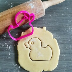 Rubber duck_cookie cutter.jpg Télécharger fichier STL Coupeuse à biscuits en caoutchouc pour canard • Modèle imprimable en 3D, Cookiecutterstock