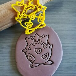 Togepi_mockup.jpg Download STL file Togepi Pokemon Cookie Cutter • Template to 3D print, Cookiecutterstock