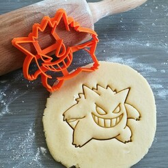 Gengar_mockup.jpg Download STL file Gengar Pokemon Cookie Cutter • Template to 3D print, Cookiecutterstock