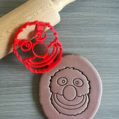 Grover_mockup.jpg Download STL file Grover Sesame Street Cookie Cutter • 3D printing design, Cookiecutterstock
