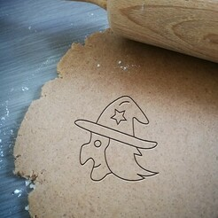 witch halloween_koekjesvorm.jpg Télécharger fichier STL Coupe-biscuits d'Halloween des sorcières • Plan imprimable en 3D, Cookiecutterstock