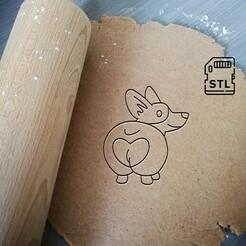 corgi love butt_etsy.jpg Télécharger fichier STL Corgi Love Butt Cookie Cutter • Plan imprimable en 3D, Cookiecutterstock