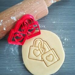 Padlock with heart_cookie cutter.jpg Télécharger fichier STL Cadenas avec coupe-cuisine en forme de cœur • Objet imprimable en 3D, Cookiecutterstock