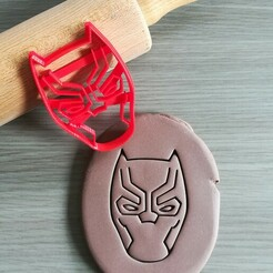 Black Panther_mockup.jpg Download STL file Black Panther, Marvel Cookie Cutter • Object to 3D print, Cookiecutterstock