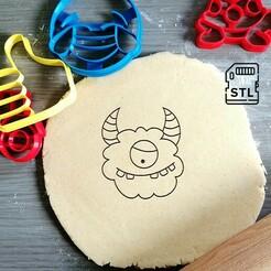 Cute monster_etsy.jpg Download STL file Cute Monster Cookie Cutter • Template to 3D print, Cookiecutterstock