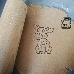 cute cow sitting_etsy.jpg Download STL file Cute Cow Cookie Cutter • 3D printing design, Cookiecutterstock