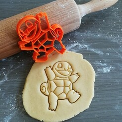 Squirtle_mockup.jpg Download STL file Squirtle Pokemon Cookie Cutter • 3D print object, Cookiecutterstock