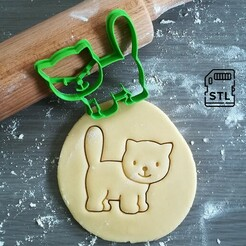 Cat_cookie cutter.jpg Télécharger fichier STL Coupe-biscuits pour chats • Plan pour impression 3D, Cookiecutterstock