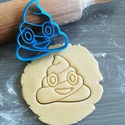 Poop_cookie cutter.jpg Télécharger fichier STL Coupe-caca Emoji • Design pour imprimante 3D, Cookiecutterstock