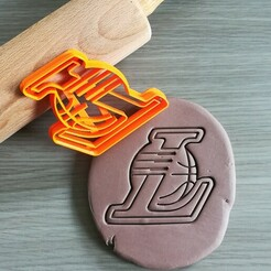 LA Lakers_mockup.jpg Download STL file LA Lakers Cookie Cutter • 3D print model, Cookiecutterstock