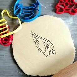 arizona cardinalls.jpg Download STL file Arizona Cardinals Cookie Cutter • 3D printer design, Cookiecutterstock