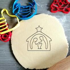 christmas crib_koekjesvorm.jpg Télécharger fichier STL Coupe-biscuits de la crèche de Noël • Design pour imprimante 3D, Cookiecutterstock