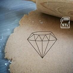 diamond_etsy.jpg Download STL file Diamond Cookie Cutter • 3D printing object, Cookiecutterstock