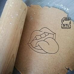 Tongue kiss_etsy.jpg Télécharger fichier STL Coupe-biscuits Tongue Kiss • Plan à imprimer en 3D, Cookiecutterstock