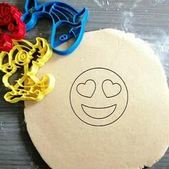 love emoji_koekjesvorm.jpg Télécharger fichier STL Aimer Emoji Cookie Cutter • Modèle à imprimer en 3D, Cookiecutterstock
