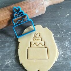 Taart_mockup.jpg Télécharger fichier STL Coupeuse à biscuits pour gâteau de mariage • Modèle imprimable en 3D, Cookiecutterstock
