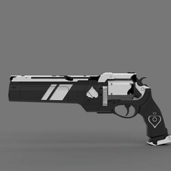01.jpg Download STL file ASE OF SPADES HAND CANNON • 3D print template, tommy250max