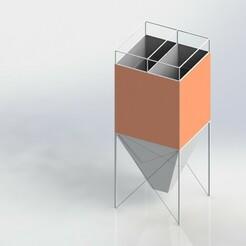 Square Silo.JPG Download STL file Square Silo  • 3D printer object, Mak0o0o0