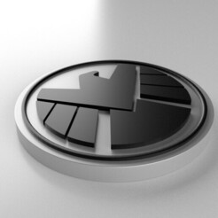 02.jpg Download free STL file Agents of Shield Emblem • Template to 3D print, akecharid