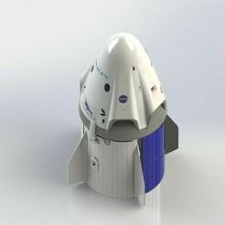 Preview_1.JPG Download STL file SpaceX Crew Capsule • 3D printing model, AeroDesign
