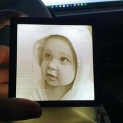 20210109_192705.jpg Télécharger fichier STL Porte-photos Lithophane avec support de pile • Objet à imprimer en 3D, Apex84nl