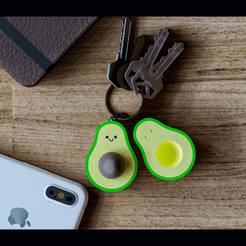 AGUACATE FINAL plano.png Download STL file AVOCADO KEYCHAIN • Design to 3D print, jcorredor