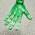 Download STL file Flexi PRINT-IN-PLACE Hand • 3D printing model, darrthegeek