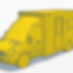 UK Ambulance.stl Download STL file UK Mercedes ambulance • 3D printable design, justinhanson87